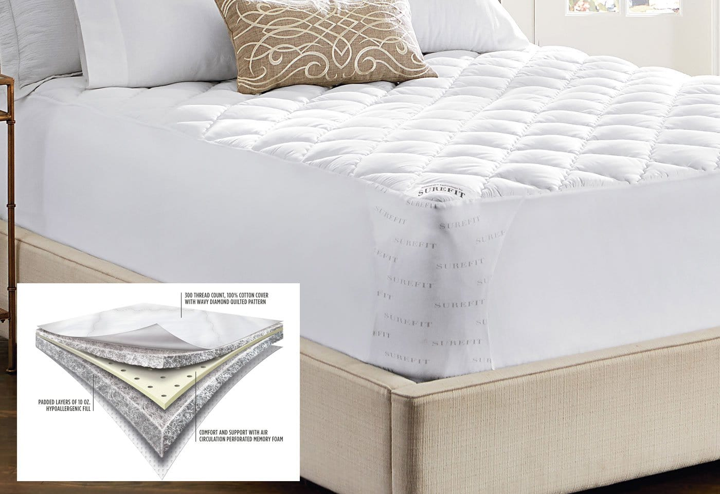 Memory Foam Mattress Pad - Twin XL