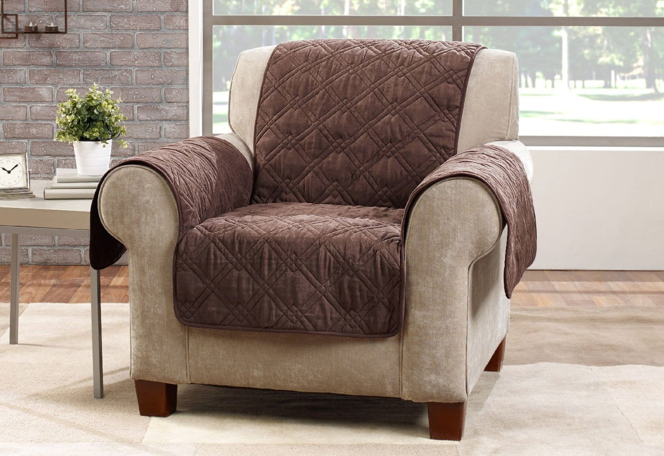 ... Microfiber Pet Chair Quilted Furniture Cover ... & Microfiber Pet Chair Quilted Furniture Cover   SureFit