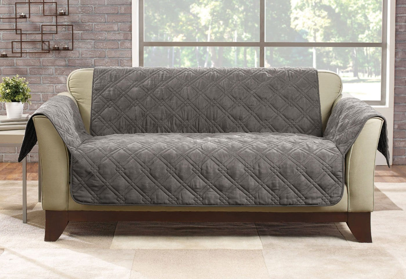 Microfiber Pet Loveseat Quilted Furniture Cover