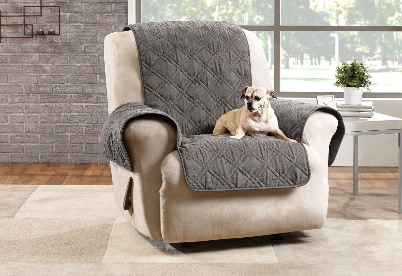 Microfiber Pet Recliner Quilted Furniture Cover
