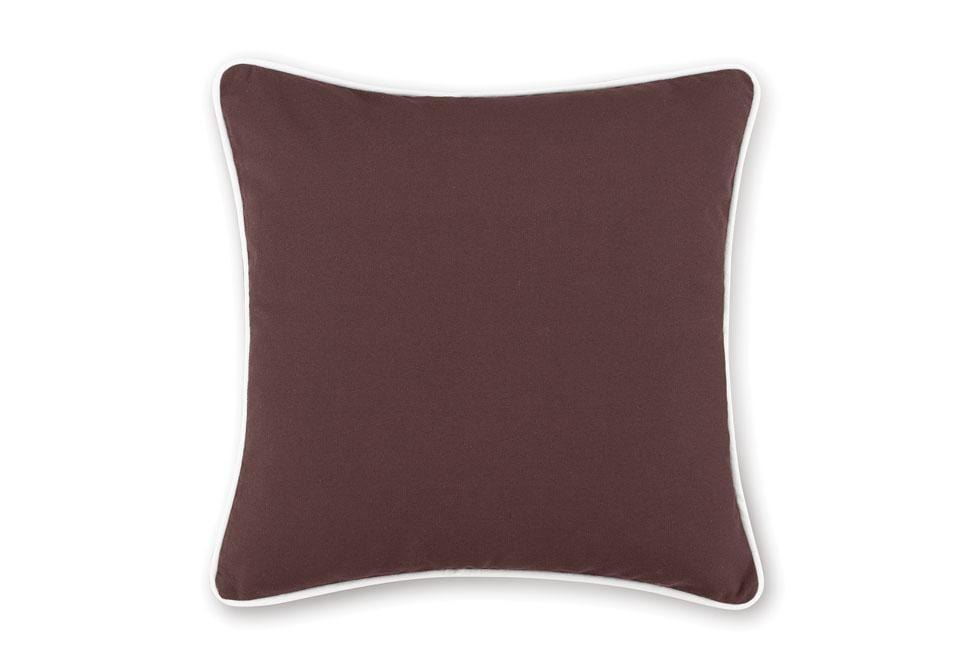 Monaco 18 Inch Square Coordinating Pillow Cover - 18 x 18 / Chocolate/White