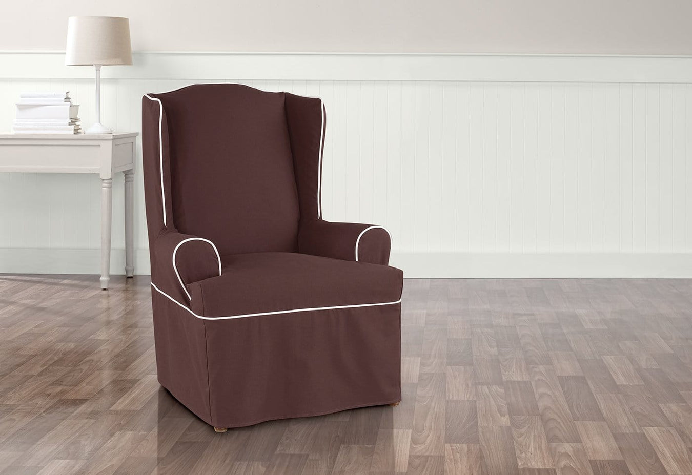 Monaco One Piece Wing Chair Slipcover