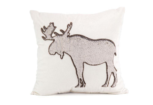 Moose Hug 18 Inch Square Decorative Pillow