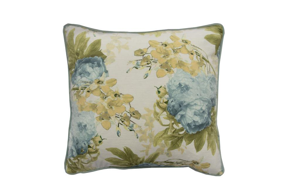 Orchid Moody Cucumber Floral   20 inch square Decorative Pillow