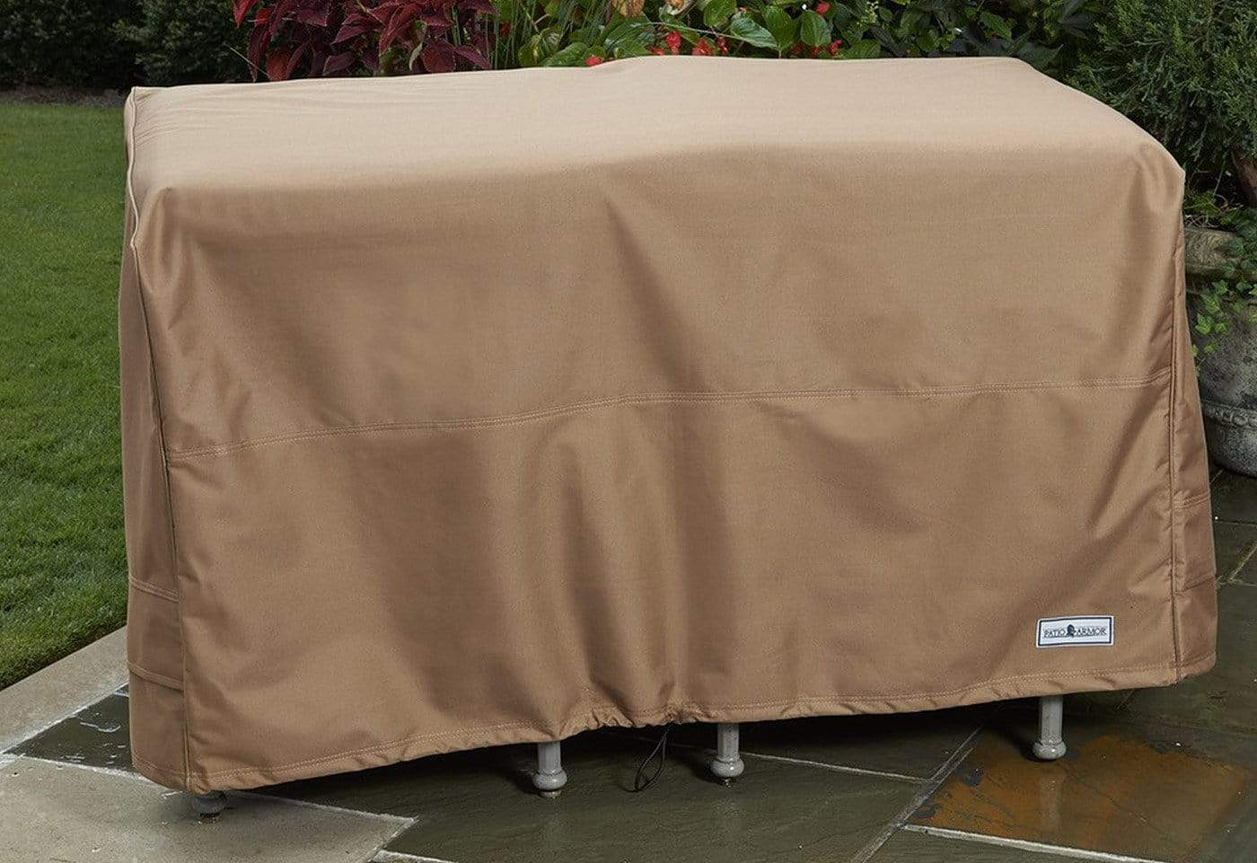 Patio Armor Bench Glider Cover - Taupe / Taupe