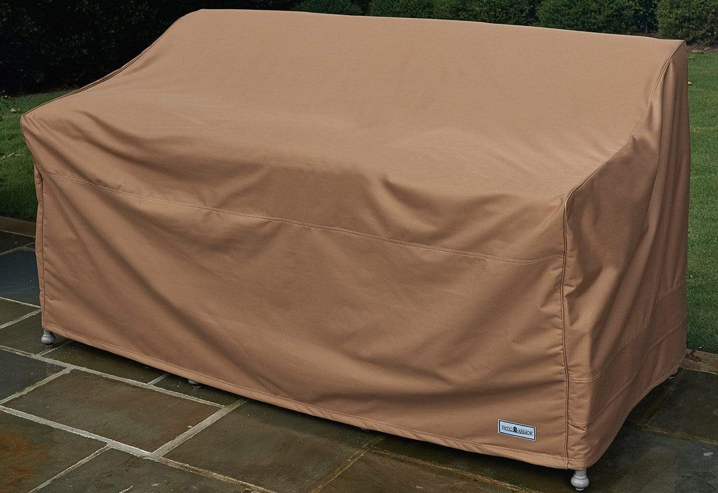 Patio Armor Loveseat Bench Outdoor Furniture Cover - Taupe / Taupe