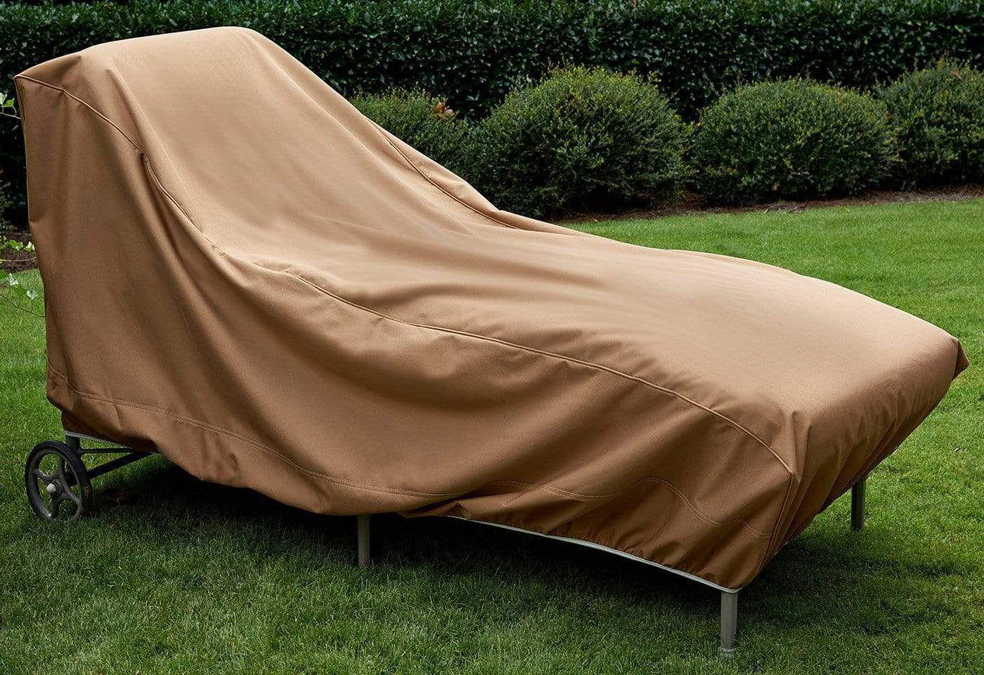 Patio Armor Chaise Lounge Outdoor Furniture Cover - Brown