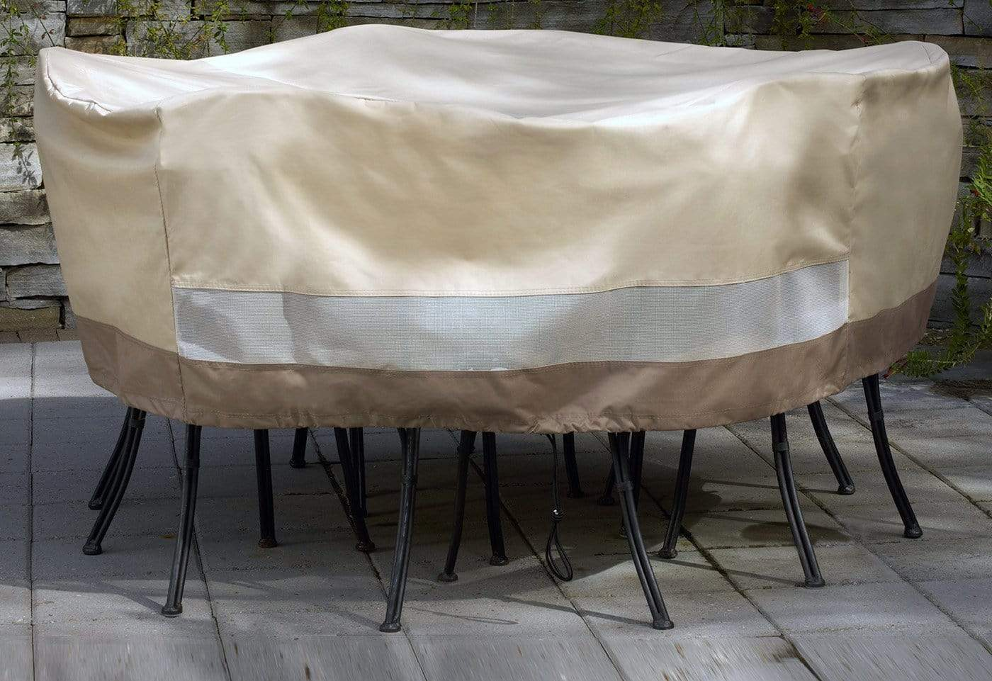 Patio Armor Table/Chair Cover Set - Round / Taupe