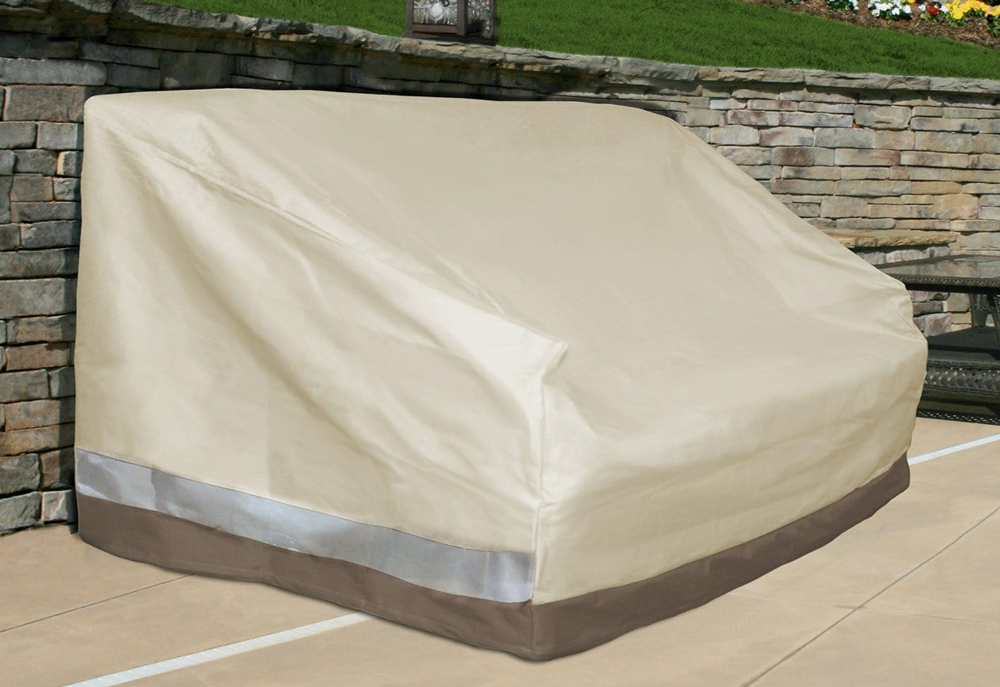 Patio Armor Large Sofa Outdoor Furniture Cover - Taupe