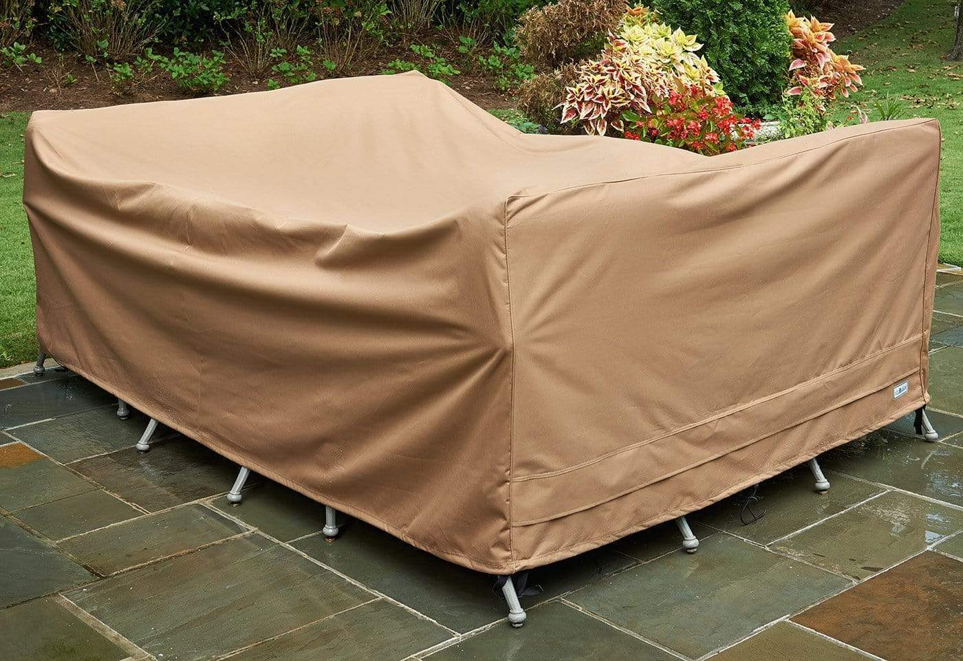 Patio Armor Table Cover - Rectangle / Taupe