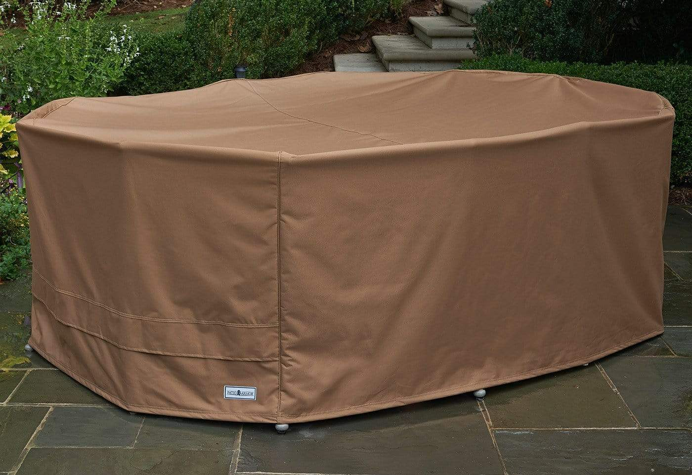 Patio Armor Table Cover - Oval / Taupe
