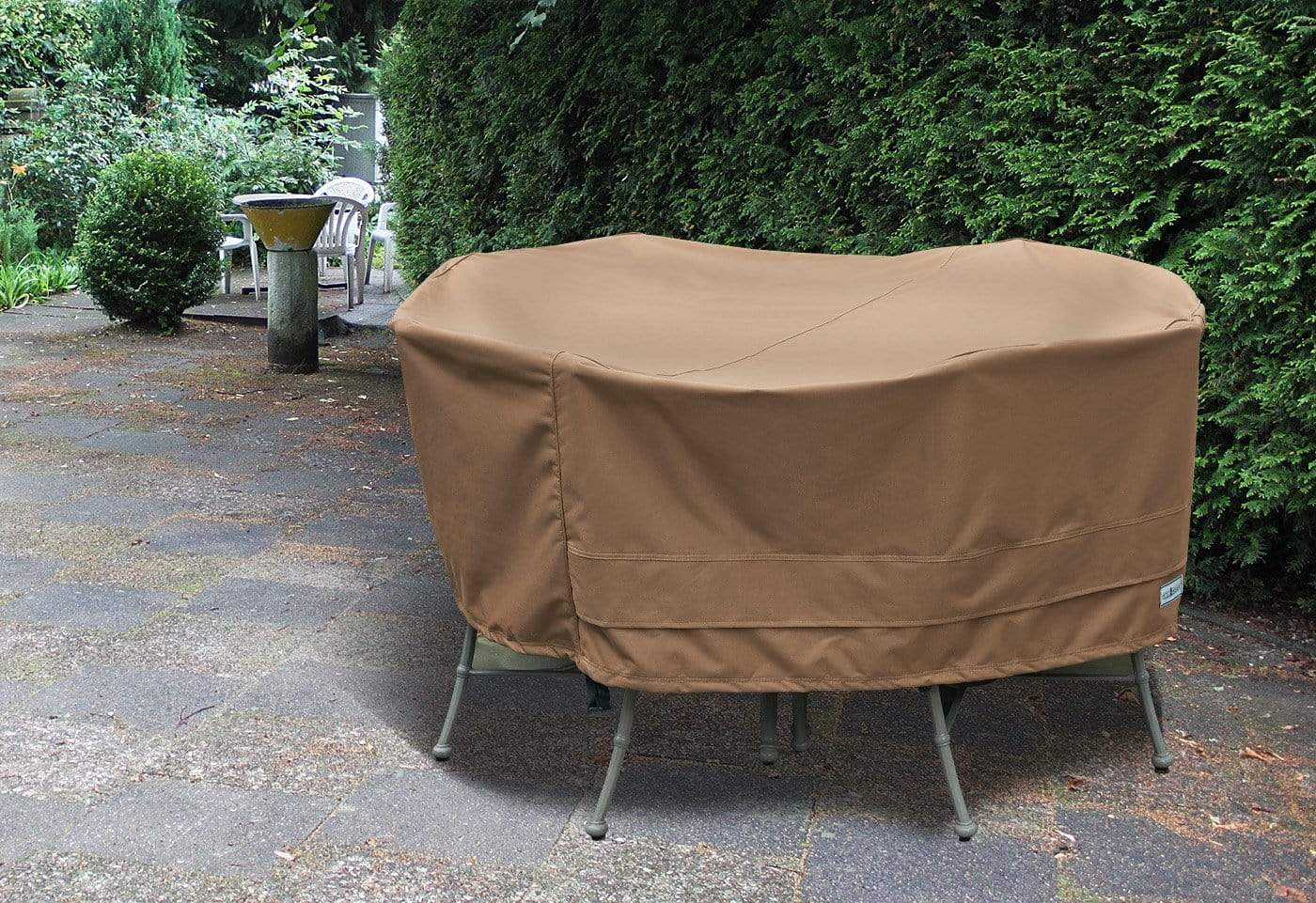 Patio Armor Table Cover - Round / Taupe
