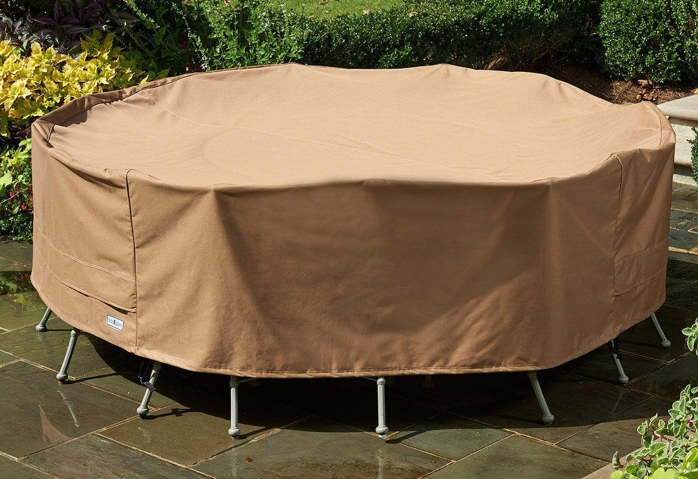Patio Armor Extra-Large Table Cover - Round / Taupe