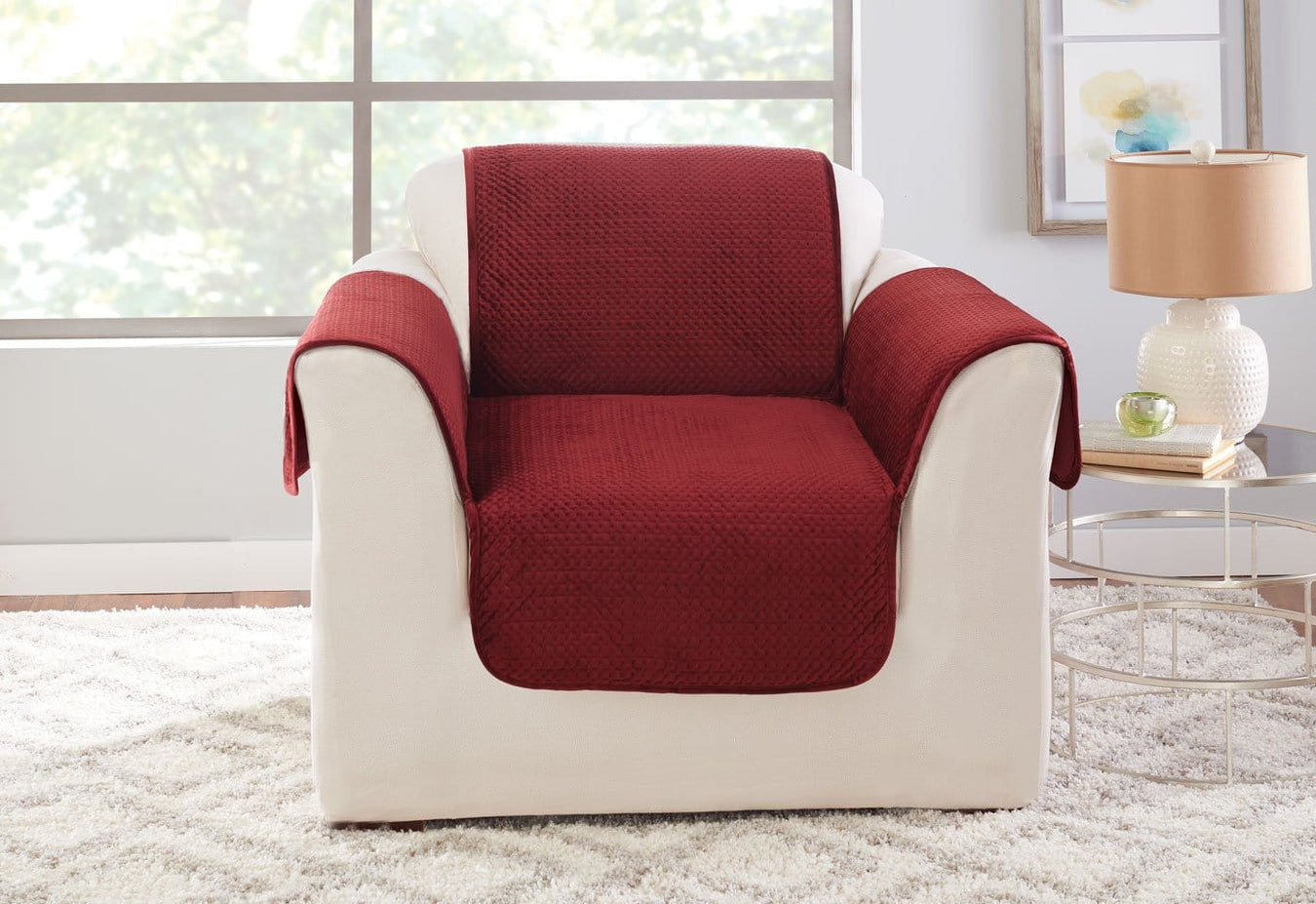 Elegant Pick Stitch Chair Furniture Cover