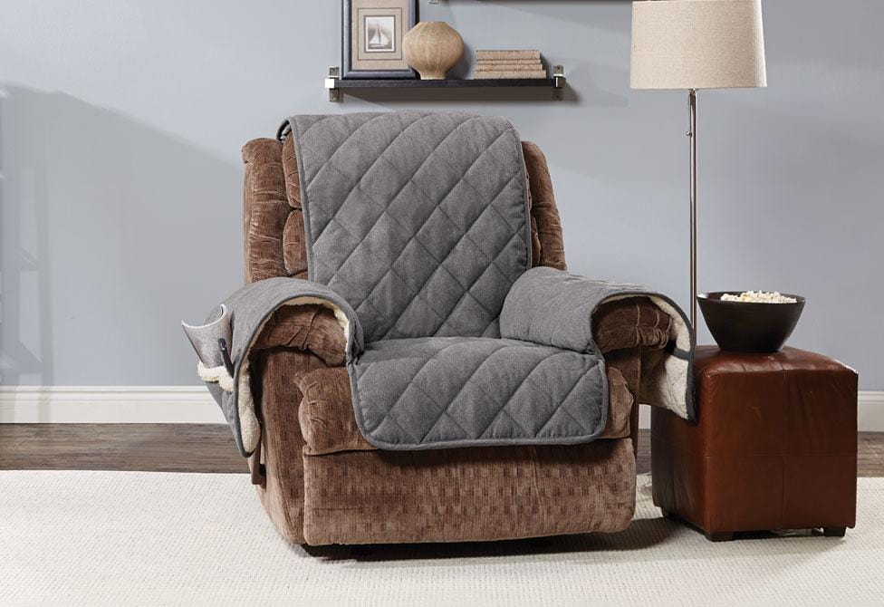 Flannel & Sherpa Recliner Furniture Cover