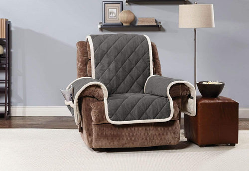 Soft Suede & Sherpa Recliner Furniture Cover