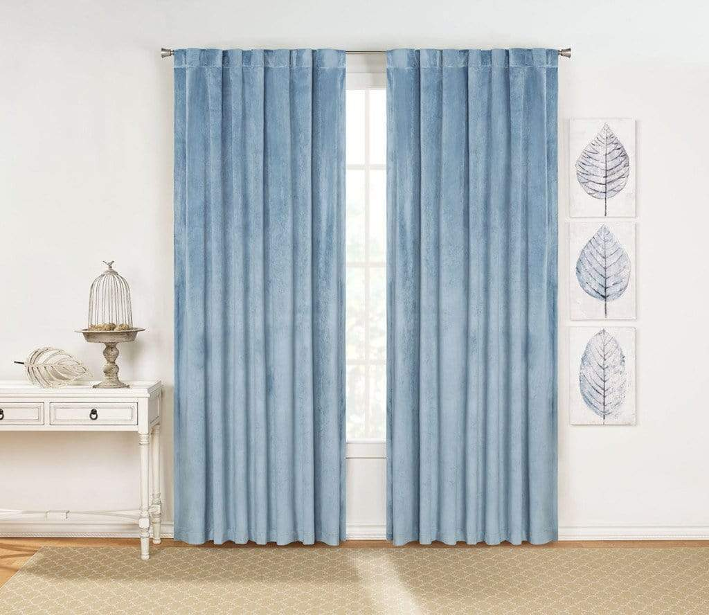 Rivas Drapery Panel Pair Blue