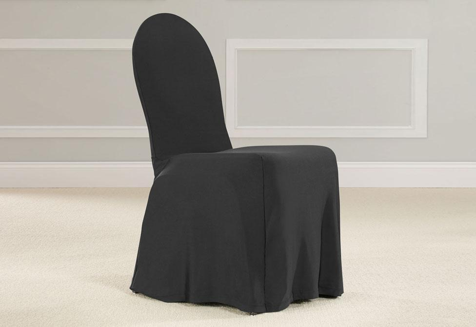 & SureFit Round Back Dining Room Chair Slipcover