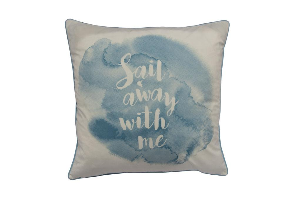 Sail Away   20 inch square Decorative Pillow