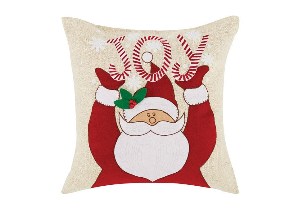 Santa Joy 20 Inch Square Decorative Pillow