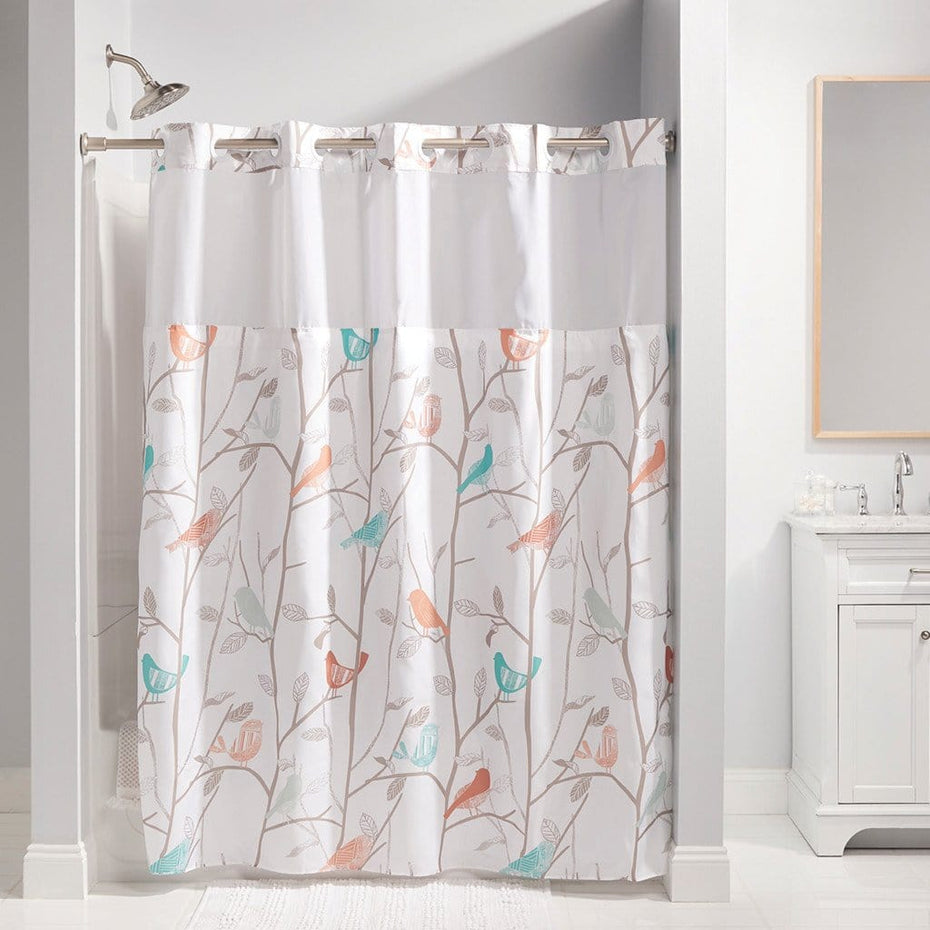Shower Curtains.Scandiary Hookless Shower Curtain