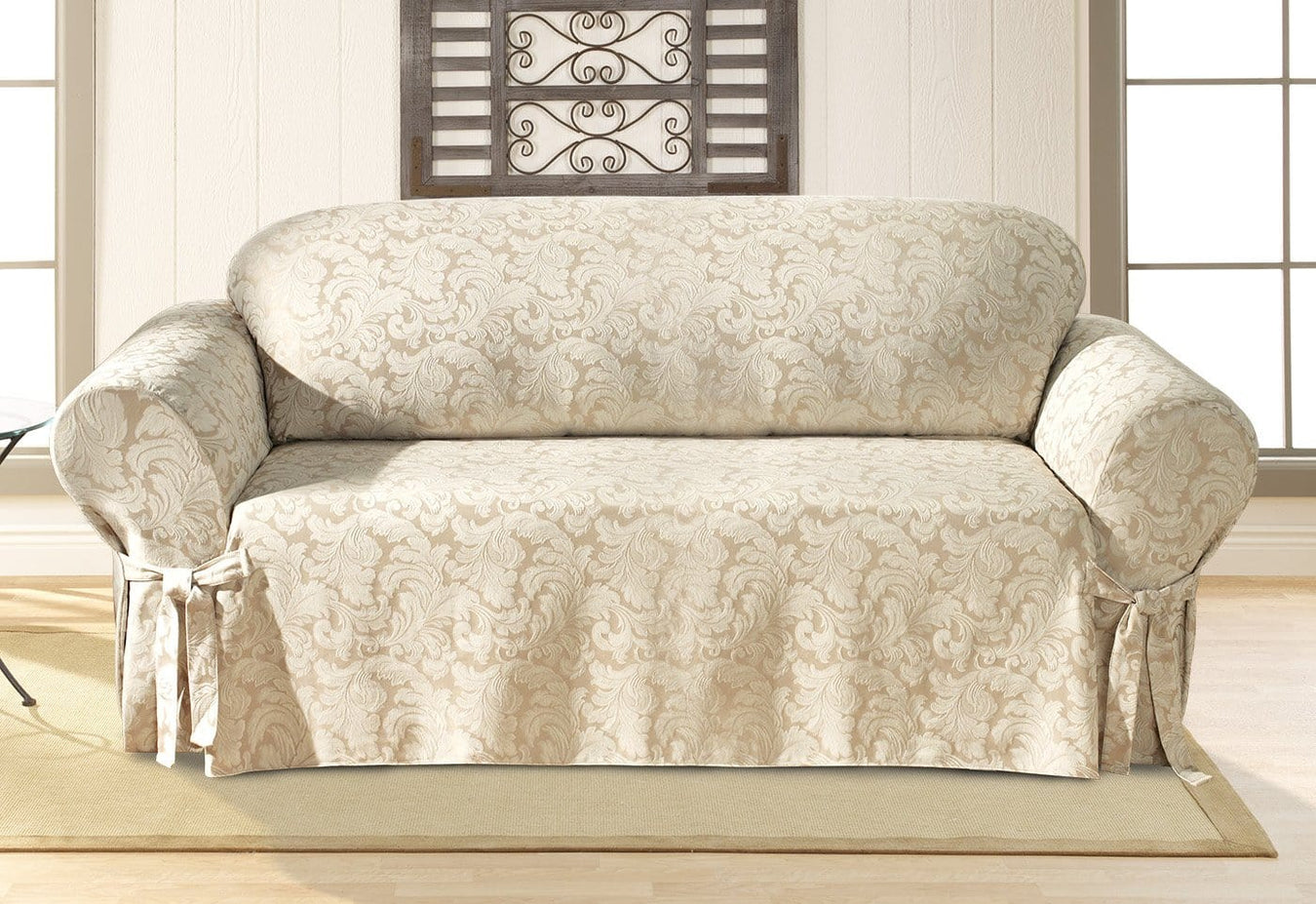 Scroll One Piece Sofa Slipcover