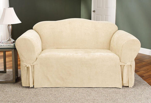 Soft Suede Clearance One Piece Sofa Slipcover