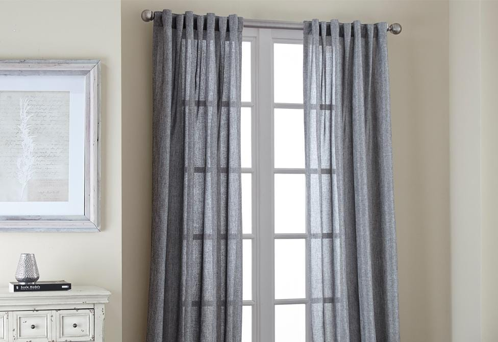 Shimmer Metallic Window Curtains