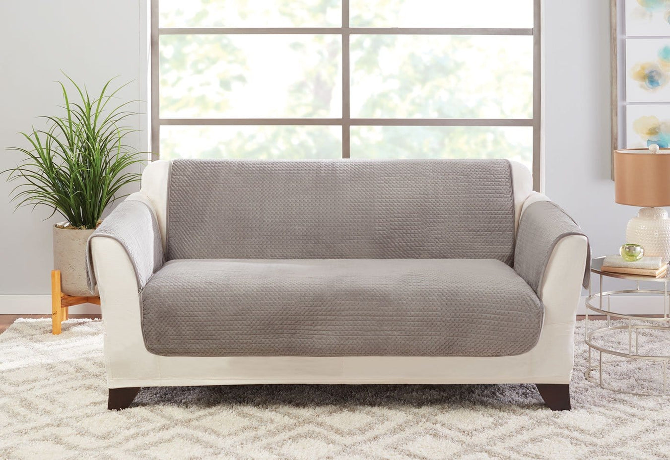 Elegant Pick Stitch Loveseat Furniture Cover