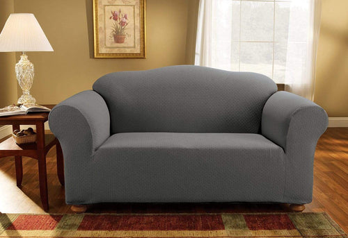 Simple Stretch Subway One Piece Loveseat Slipcover