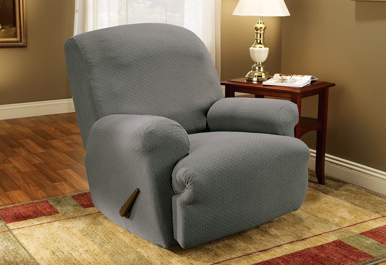 Simple Stretch Subway One Piece Recliner Slipcover