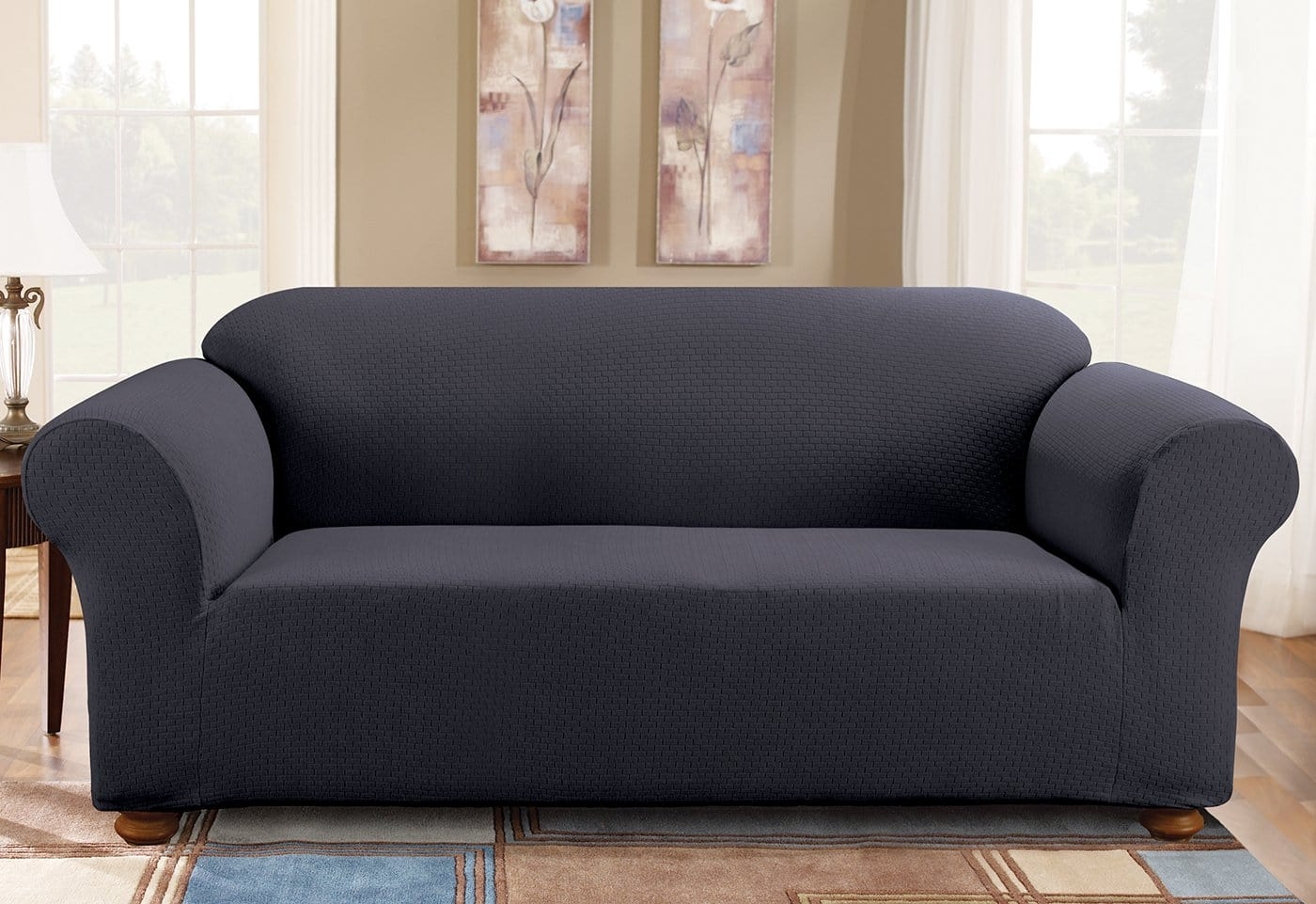 Simple Stretch Subway One Piece Sofa Slipcover