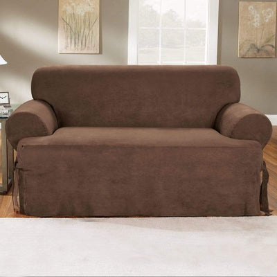 Pictures On Charcoal Loveseat Slipcover