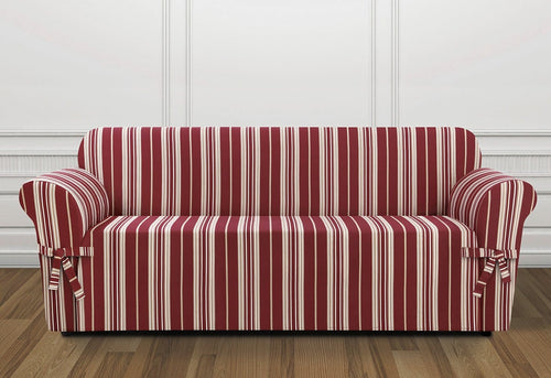 South Hampton Stripe One Piece Sofa Slipcover