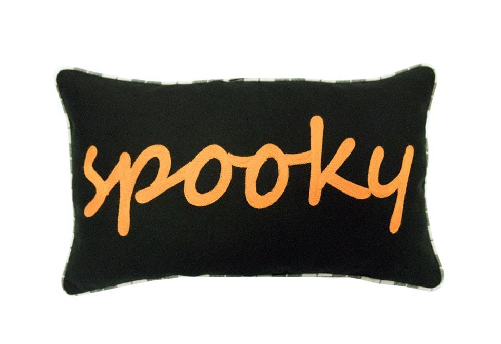 Spooky 12 Inch X 20 Inch Decorative Pillow