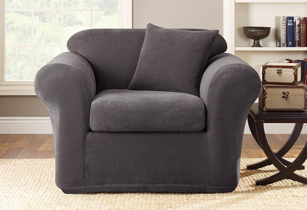 Stretch Metro Two Piece Chair Slipcover