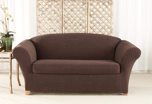 Stretch Nouveau Two Piece Loveseat Slipcover