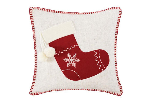 Stocking 18 Inch Square Decorative Pillow