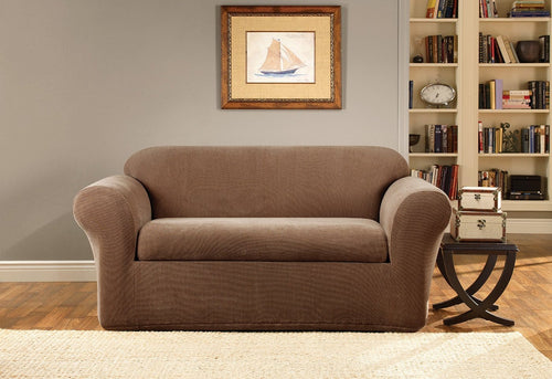 Stretch Metro Two Piece Loveseat Slipcover