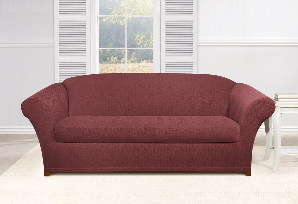 Stretch Ava Two Piece Sofa Slipcover