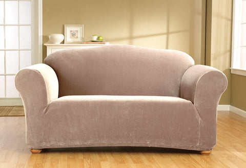 Stretch Corduroy One Piece Sofa Slipcover