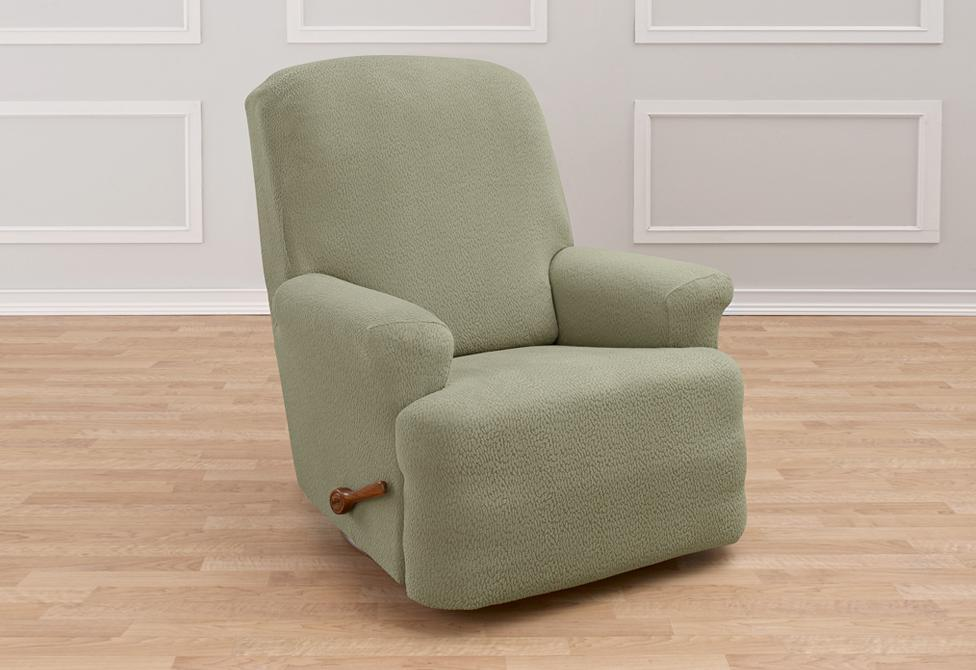 Stretch Delicate Leaf One Piece Recliner Slipcover