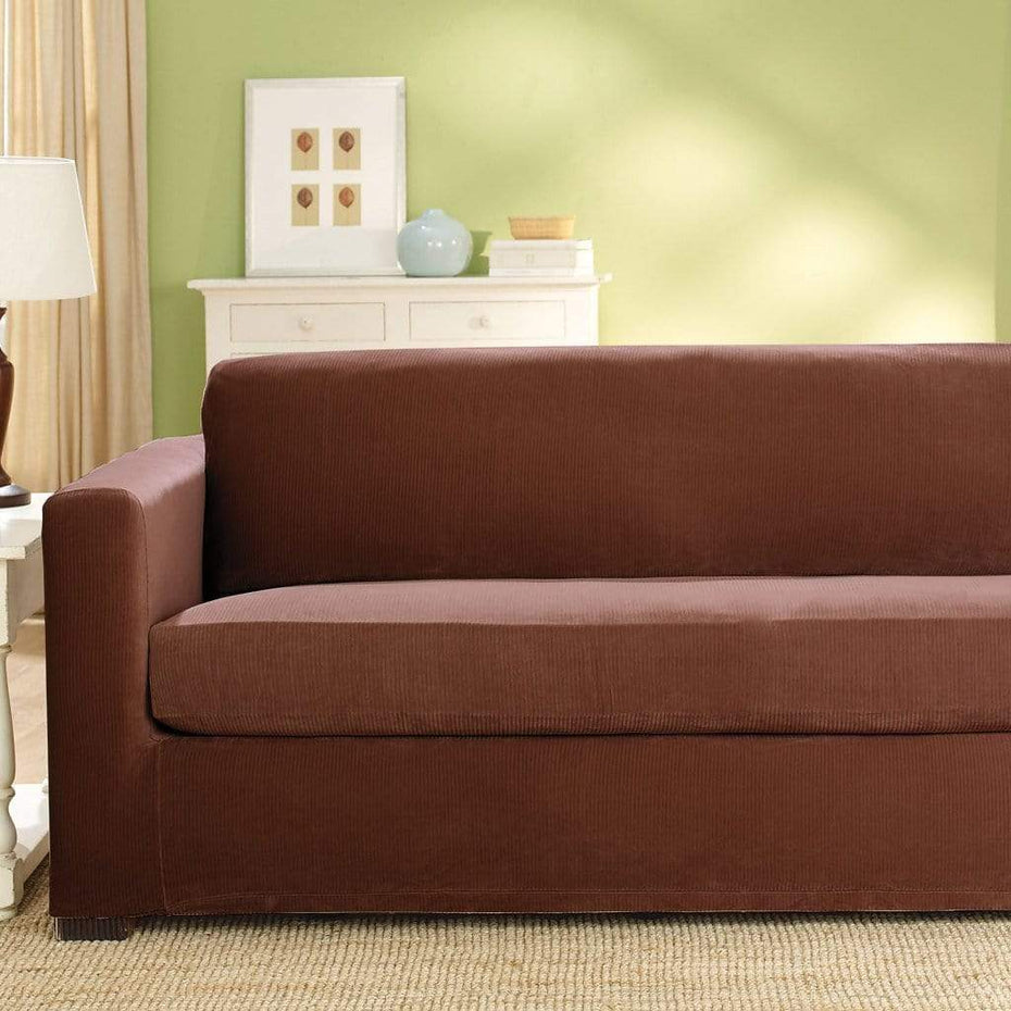 Stretch Corduroy Sofa Slipcover Oar