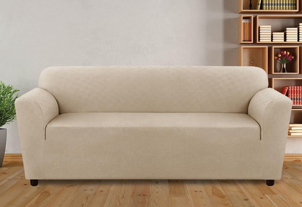 Stretch Modern Diamond One Piece Sofa Slipcover
