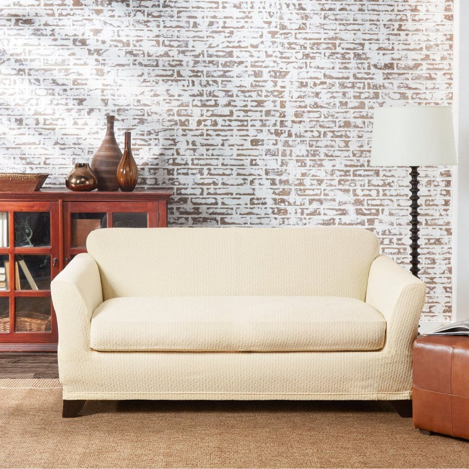 Stretch Tribal Loveseat Slipcover | Form Fit | Individual Cushion Covers | Machine Washable