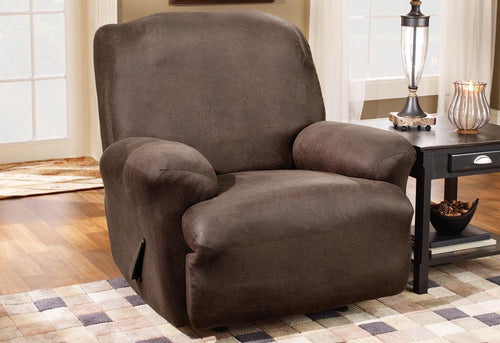 Stretch Leather One Piece Recliner Slipcover
