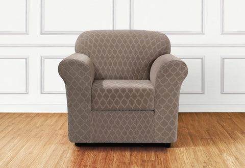 armchair slipcovers wing back chair stretch grand marrakesh two piece chair slipcover covers slipcovers surefit
