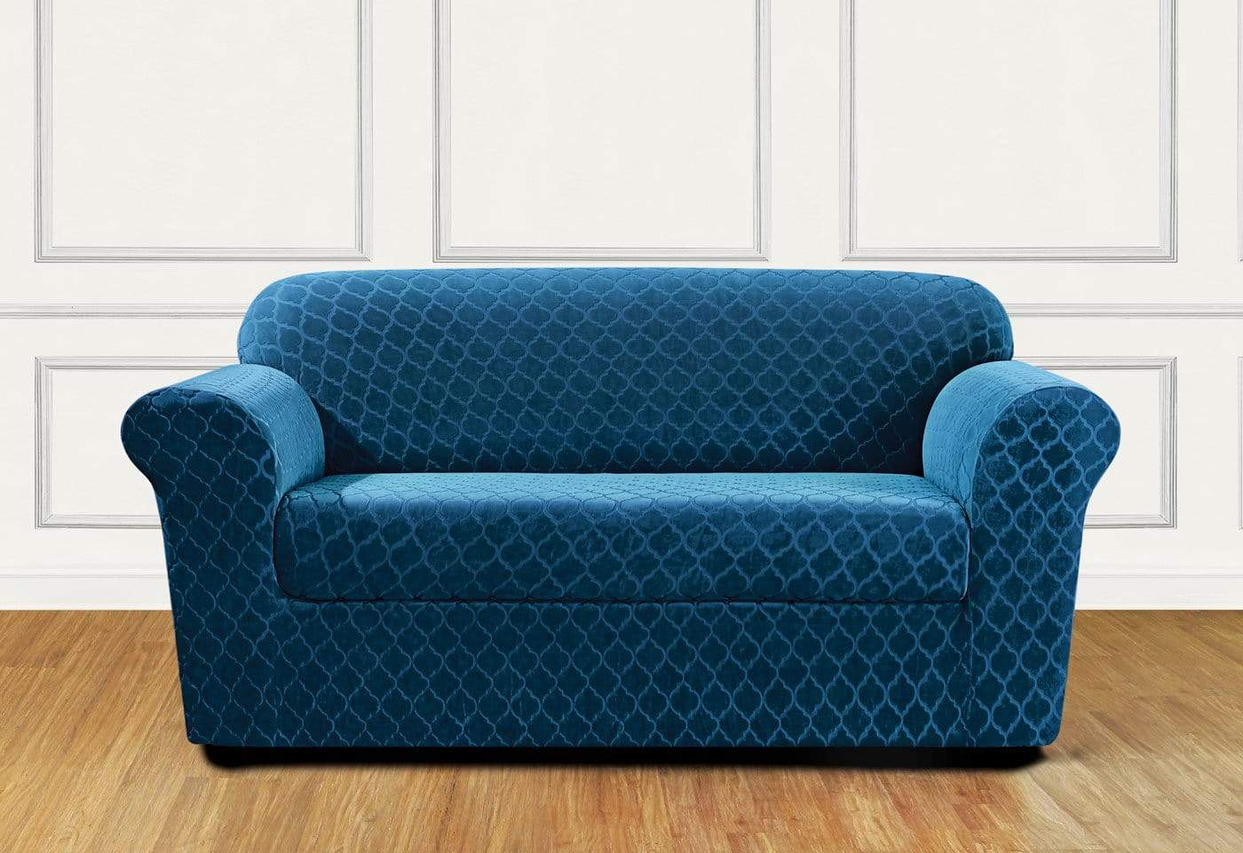 Stretch Grand Marrakesh Two Piece Loveseat Slipcover