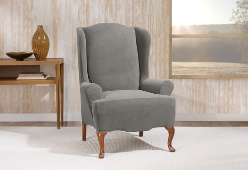 Stretch Morgan Wing Chair Slipcover