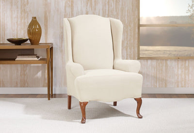 Excellent Slipcovers For Wingback Chairs Wing Chair Covers Machost Co Dining Chair Design Ideas Machostcouk
